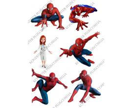 вафельная картинка человек паук+медсестра