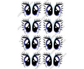 вафельная картинка глазки,