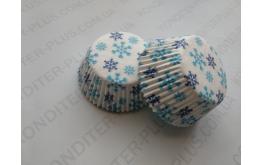 формочки для кексов стандарт 50*30, снежинка. 50 штук