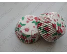 формочки для кексов стандарт 50*30, дед мороз, 100 шт