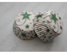 формочки для кексов звезда, 100 шт, 50*30