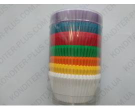 набор формочек для кексов. 200 шт, 50*30 (синий)