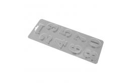 пластиковый молд цифры, 4,7 см