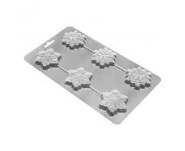 пластиковый молд снежинки
