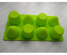 силиконовая форма кексик, 5,8*4.5 см