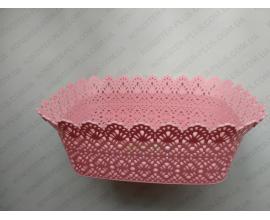 форма ажурная прямоугольная , дно 12*19 см, бирюзовая