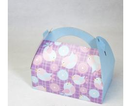 коробка сумочка для сладостей 170х120х80 птички