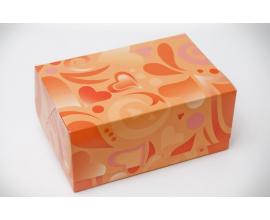 коробочка оранжевые сердца, 180*120*80