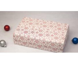 коробочка розовая снежинка,  230*150*60