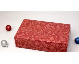 коробочка красная новогодняя, 230*150*60