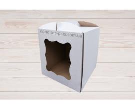 коробка белая 25*25*30 с окном