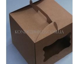 коробка бурая с окном 30*30*25