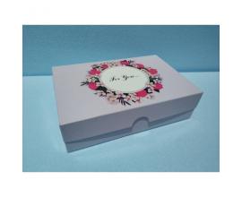 коробка для сладостей розовая FOR YOU (22.5*150*60)