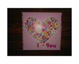 "коробка для сладостей розовое сердце ""I love you"", 150*150*50"