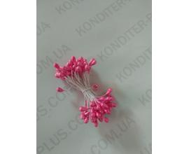 тычинки розовые крупные, 50 шт 4 мм