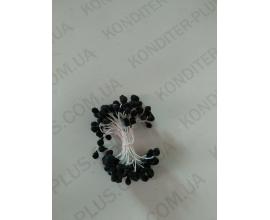 тычинки черные круглые 5 мм, 50 шт
