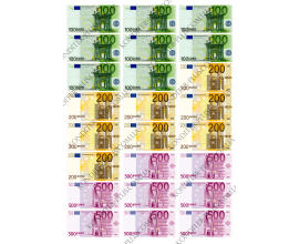 вафельная картина 100, 200, 500 евро