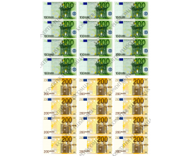 вафельная картинка 100,200 евро