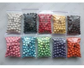 шарики 8 мм голубые перлам., №7, 50 грамм