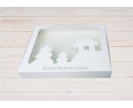 коробка для пряников 15*20*3 (белый домик)