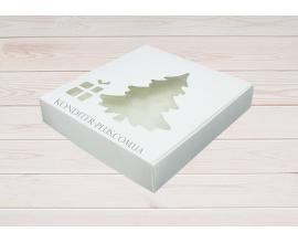 коробка для пряников 15*15*3 (елочка)