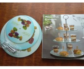 стойка для кексов стекло-макаронс, (20-25-30)
