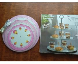 стойка стекло розовый кекскик (20-25-30)