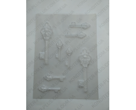 пластиковый молд ключи (12.5 и 6 см)