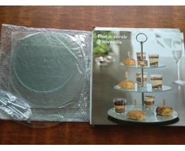 стойка для торта стекло 3 яруса (20-25-30)