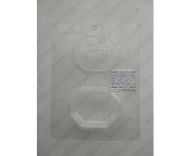 пластиковый молд шкатулка с розой 10*8 см