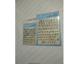 силиконовый штамп алфавит и цифры