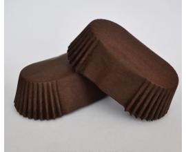 формочка для эклеров коричневая, дно 8 см бок 3 см, 15 шт