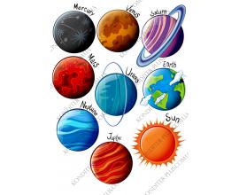 вафельная картинка планеты