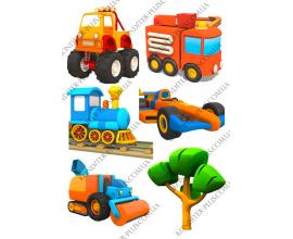 вафельная картинка грузовичек Лева 4
