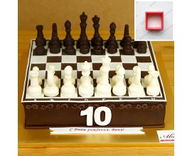 вырубка квадратик для шахматной доски 3,5*3,5 см