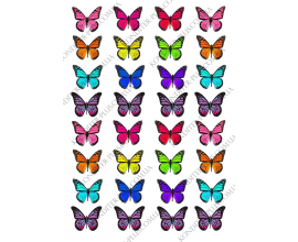 вафельная картинка бабочки № 5