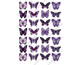 вафельная картинка бабочки №6