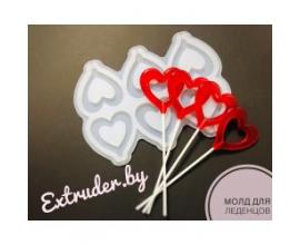 Молд силиконовый для леденцов Сердце, 5,5 см
