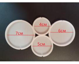 молд силиконовый круги разного размера