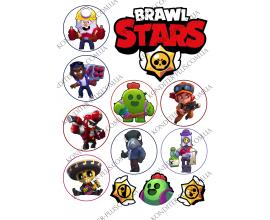 вафельная картинка brawl stars 14