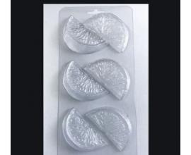 молд пластиковый 6 долек апельсина, 6,5*3*1,3 см
