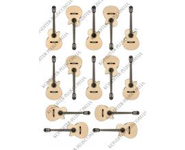 вафельная картинка 14 гитар