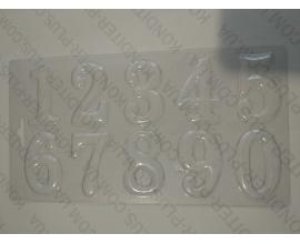 пластиковый молд цифры №3
