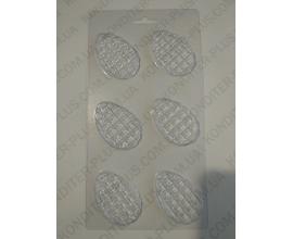 пластиковый молд 6 яиц, 5,5*3,6 см