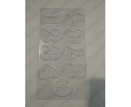 молд пластиковый цыфры №1, 4,9 см