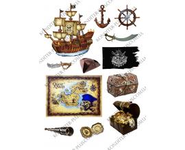 вафельная картинка пираты №1