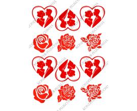 вафельная картинка сердце 3