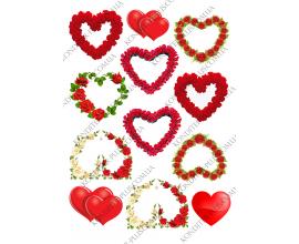 вафельная картинка сердце 2