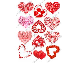 вафельная картинка сердце