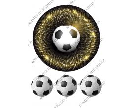 вафельная картинка золотое поле+мяч